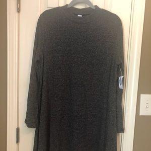 Gray long sleeve swing dress